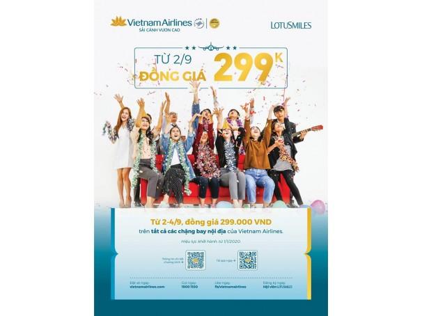 Vietnam airlines đồng giá 299k
